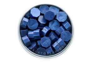 Midnight Blue Octagon Sealing Wax Beads - Sealing Wax - Backtozero
