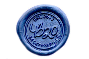 Midnight Blue Octagon Sealing Wax Beads - Backtozero