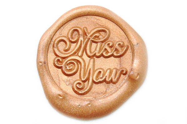 Miss You Wax Seal Stamp - Wax Seal Stamp - Backtozero