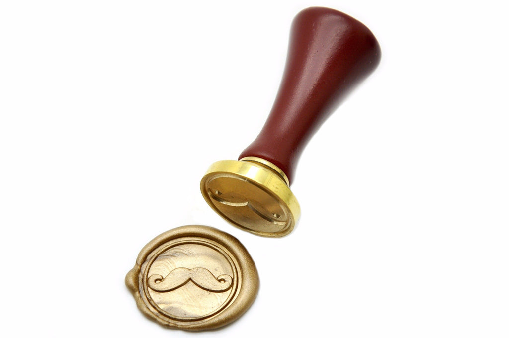 Mustache Wax Seal Stamp, Backtozero  - 1