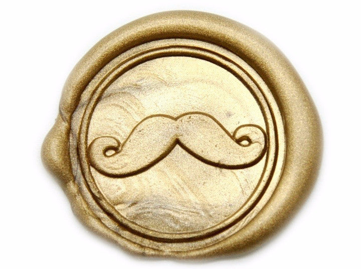 Mustache Wax Seal Stamp, Backtozero  - 2