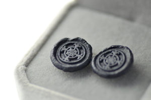 OOAK Cross Wax Seal Earrings - Wax Seal Earrings - Backtozero