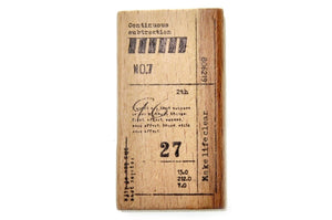 Number Word Texture Rubber Stamp | B