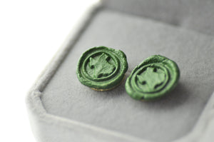 OOAK State Map Wax Seal Earrings - Wax Seal Earrings - Backtozero