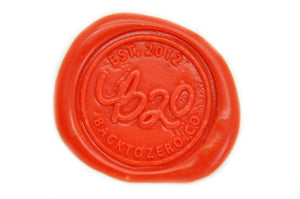 Orange Sealing Wax Heart Bead - Backtozero