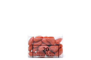 Orange Sealing Wax Heart Bead - Sealing Wax - Backtozero