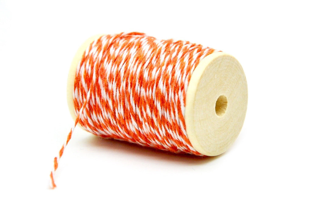 Orange/White Baker's Twine, Backtozero  - 2