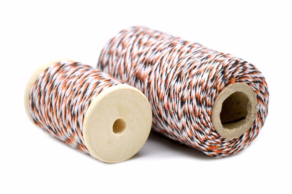 Orange/Black/White Baker's Twine, Backtozero  - 1