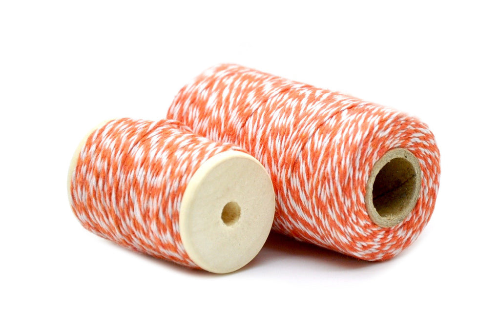 Orange/White Baker's Twine, Backtozero  - 1
