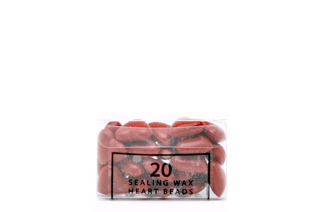 Palm Red Sealing Wax Heart Bead - Sealing Wax - Backtozero