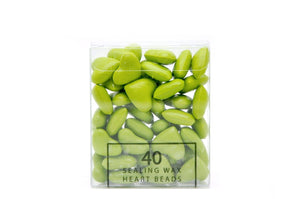 Pastel Green Sealing Wax Heart Bead - Sealing Wax - Backtozero
