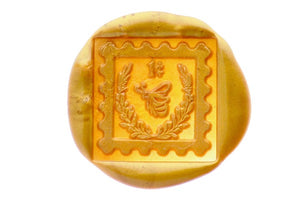 Postal Stamp Air Mail Wax Seal Stamp Designed by Petra
