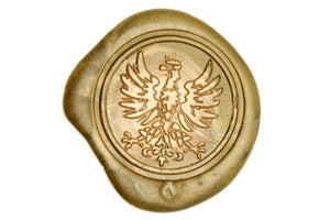 Heraldic Crowned Phoenix Wax Seal Stamp - Wax Seal Stamp - Backtozero