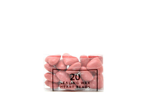 Pink Sealing Wax Heart Bead - Sealing Wax - Backtozero