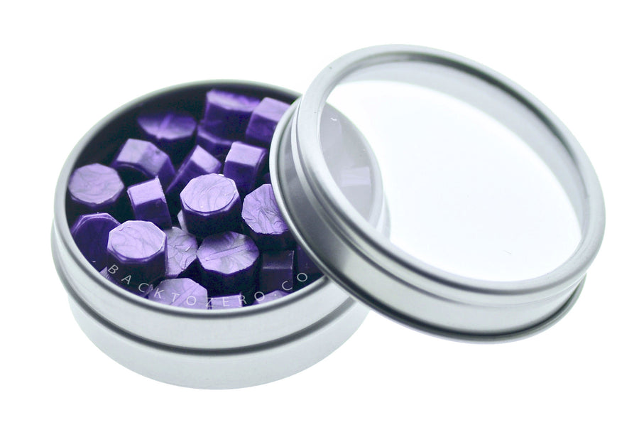 Purple Octagon Sealing Wax Beads - Sealing Wax - Backtozero