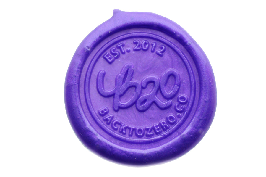 Purple Non-Wick Filigree Sealing Wax Stick - Sealing Wax - Backtozero