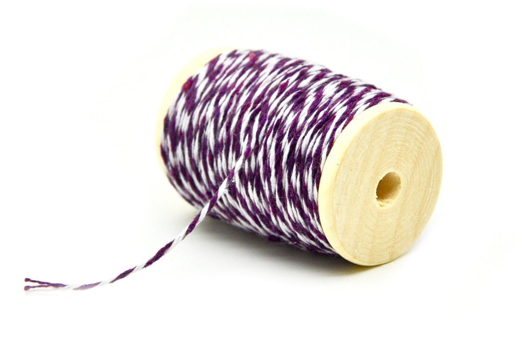 Purple/White Baker's Twine, Backtozero  - 2