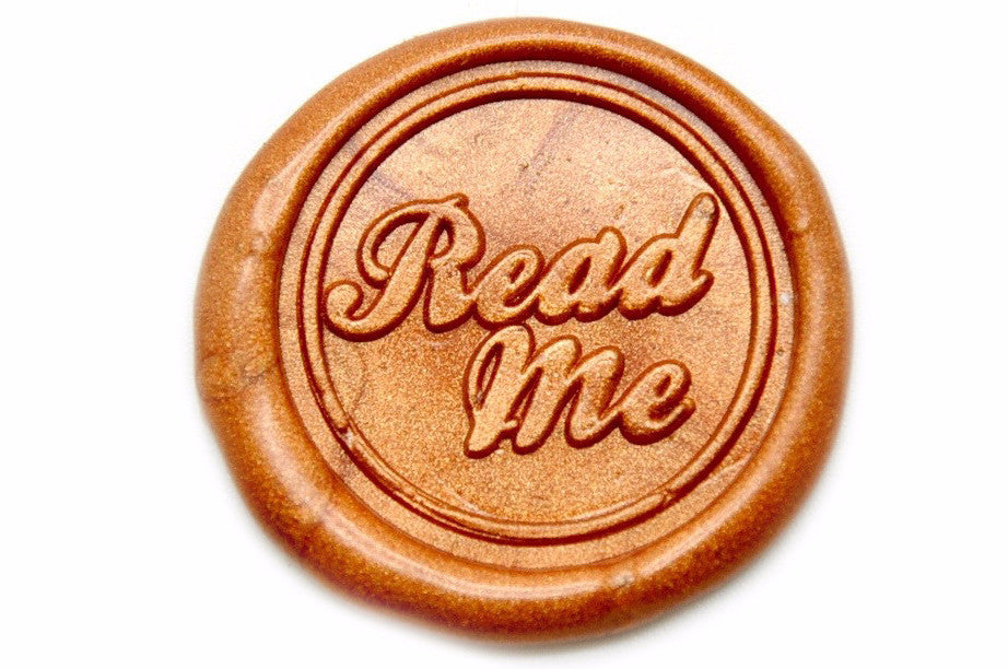 Read Me Wax Seal Stamp, Backtozero  - 2