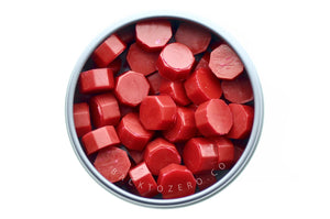 Red Octagon Sealing Wax Beads - Sealing Wax - Backtozero