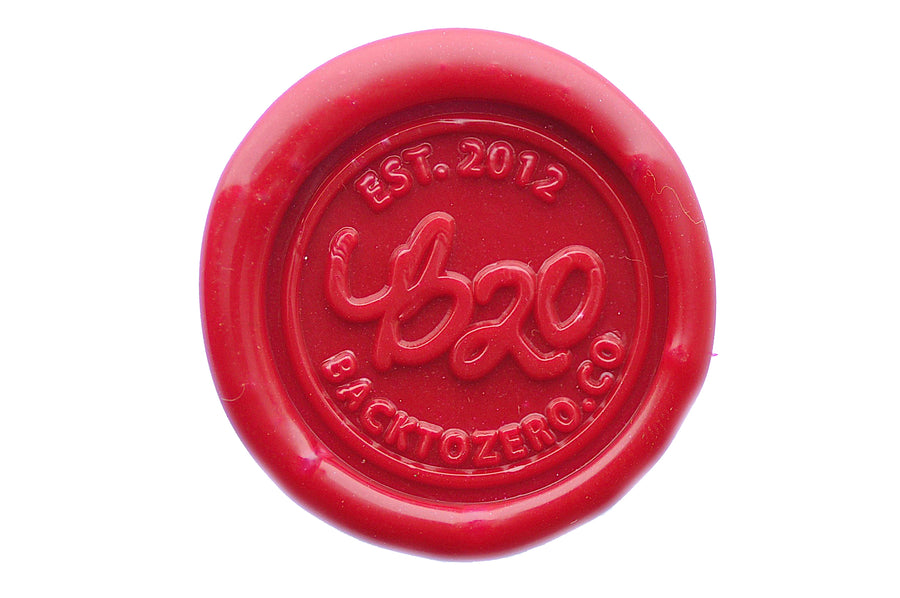 Red Filigree Wick Sealing Wax Stick - Sealing Wax - Backtozero