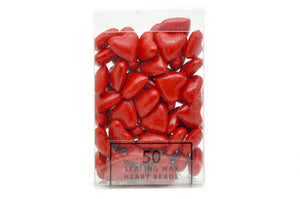 Red Sealing Wax Heart Bead - Sealing Wax - Backtozero