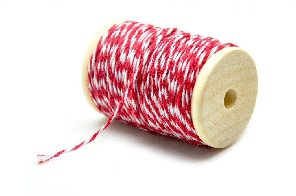 Red/White Baker's Twine, Backtozero  - 2
