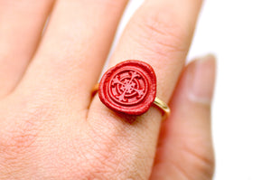 OOAK Cross Wax Seal Ring - Wax Seal Ring - Backtozero