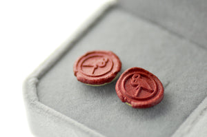 OOAK Flamingo Wax Seal Earrings - Wax Seal Earrings - Backtozero