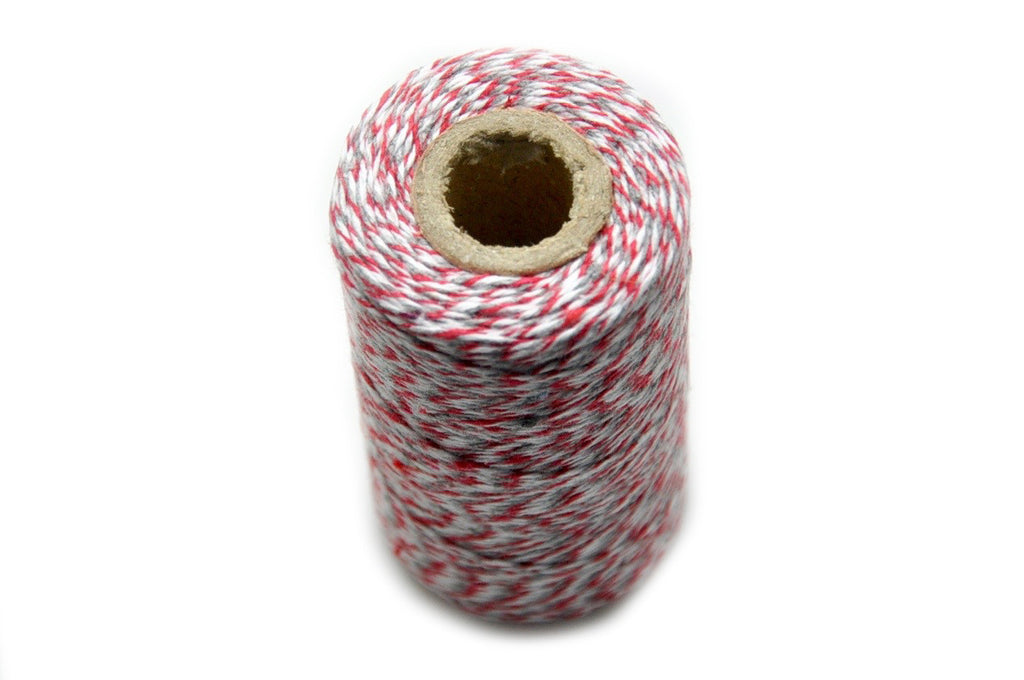 Red/Gray/White Baker's Twine, Backtozero  - 3