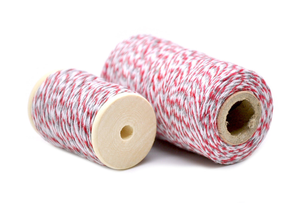 Red/Gray/White Baker's Twine, Backtozero  - 1