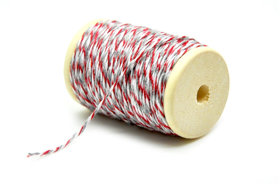 Red/Gray/White Baker's Twine - Twine - Backtozero