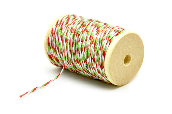 Red/Green/White Baker's Twine - Twine - Backtozero