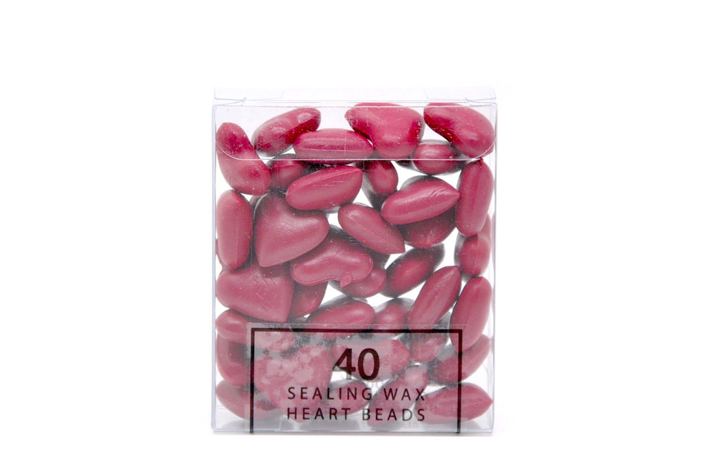 Rose Red Sealing Wax Heart Bead - Sealing Wax - Backtozero