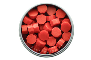 Rose Red Octagon Sealing Wax Beads - Sealing Wax - Backtozero
