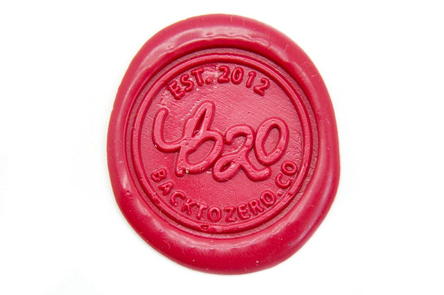 Rose Red Wick Sealing Wax Stick - Sealing Wax - Backtozero