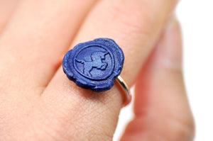OOAK Unicorn Wax Seal Ring - Wax Seal Ring - Backtozero