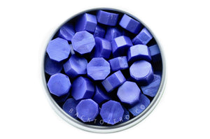Royal Blue Octagon Sealing Wax Beads - Backtozero