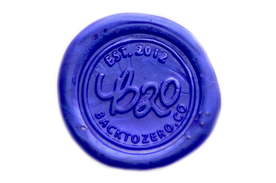 Royal Blue Octagon Sealing Wax Beads - Sealing Wax - Backtozero