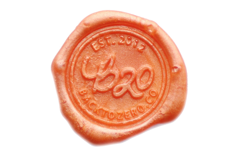 Salmon Non-Wick Filigree Sealing Wax Stick - Sealing Wax - Backtozero