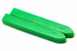 Sharp Green Filigree Wick Sealing Wax Stick - Sealing Wax - Backtozero