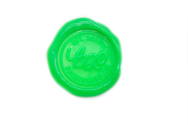 Sharp Green Filigree Wick Sealing Wax Stick, Backtozero  - 1