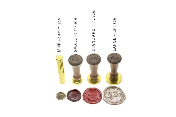 Zhuanshu Chinese Wax Seal Stamp | Available in 4 Sizes - Wax Seal Stamp - Backtozero