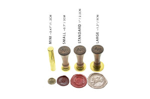 Copperplate Calligraphy Wedding Wax Seal Stamp | Available in 4 Sizes - Wax Seal Stamp - Backtozero