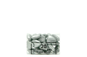 Silver Sealing Wax Heart Bead - Sealing Wax - Backtozero