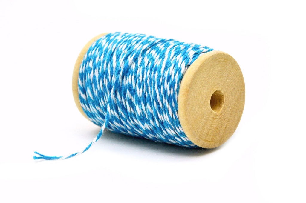 Sky Blue/White Baker's Twine, Backtozero  - 2
