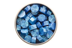 Sky Blue Octagon Sealing Wax Beads - Sealing Wax - Backtozero
