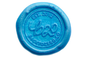 Sky Blue Filigree Wick Sealing Wax Stick - Sealing Wax - Backtozero