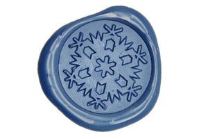 Snowflake Wax Seal Stamp - Wax Seal Stamp - Backtozero