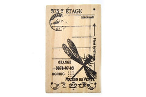 Nature Specimen Rubber Stamp | F - Rubber Stamp - Backtozero