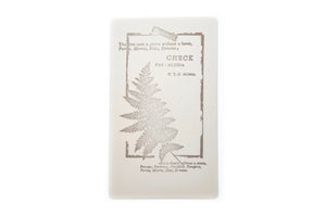 Nature Specimen Rubber Stamp | E